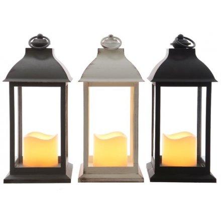 LED Candle Lanterns, 33cm