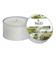 Prices Scented Candle Tin - White Musk   Freshen your home with a calming scent with this Prices candle tin