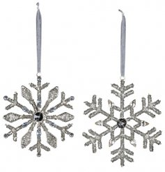 Bring a dazzling decal to your tree displays at Christmas with this gorgeous assortment of hanging sequin snowflakes