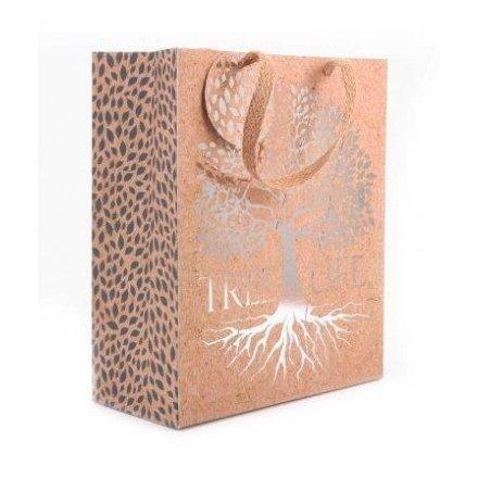 Silver Tree Gift Bag, 23cm