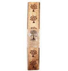 A box of sweetly scented Incense Sticks with a Silver Tree inspired packaging