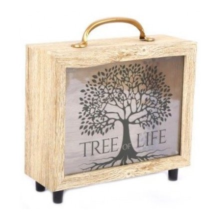 Wooden Tree Of Life Money Box