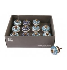 Perfect for bringing a splash of colour to any upcycled piece of furniture, a mix of pretty patterned ceramic doorknobs