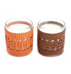 Assorted by their sweet scents and autumnal toned woven fabric decal,