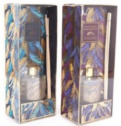 A mix of beautifully packaged Reed Diffusers from the gorgeous Golden Feather Range