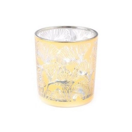Golden Lotus Candle Pot, 8cm