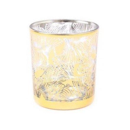 Golden Lotus Candle Pot, 10cm