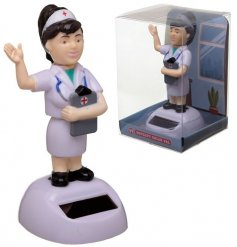 A nurse solar pal who waves when in direct sunlight