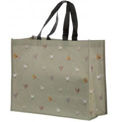 A beautifully illustrated chickens shopping bag from the charming new farm range, Willow Farm.