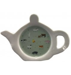 A beautifully illustrated farm animal teabag tidy from the charming new farm range, Willow Farm.