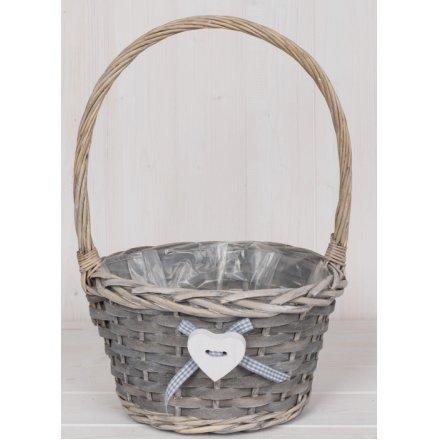 36cm Round Wicker Trug Basket