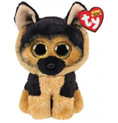 A cute and cuddly German Shepherd dog from the TY Beanie Boo Range
