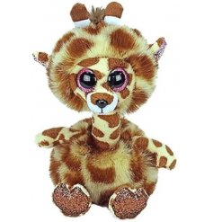 Cute and cuddly Gertie the giraffe with glittery eyes