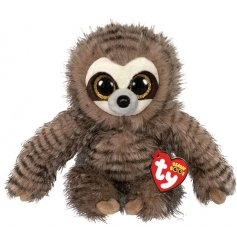 A cute and cuddly silly sloth soft toy with long fluffy arms and wide eyes