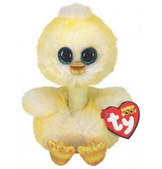 A small and snuggly duckling soft toy from the Beanie Boo TY Range