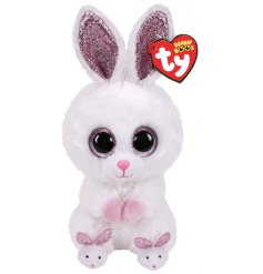 A snuggly bunny soft toy from the popular TY Beanie Boo Range