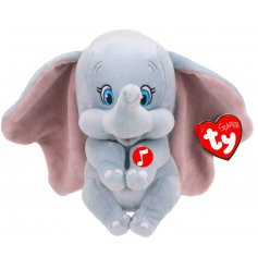 An adorable little baby dumbo soft toy with an even more adorable elephant sound