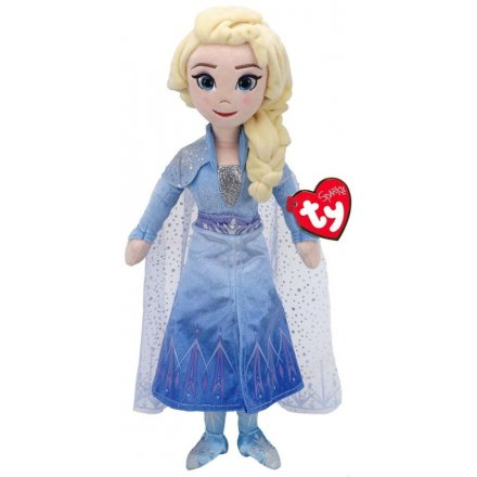 TY Elsa From Frozen Singing Soft Toy, 16inch