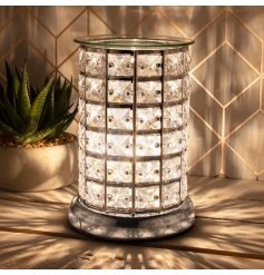 this Glitz themed Aroma Lamp will be sure to place perfectly in any home with its added Warm White LED centre