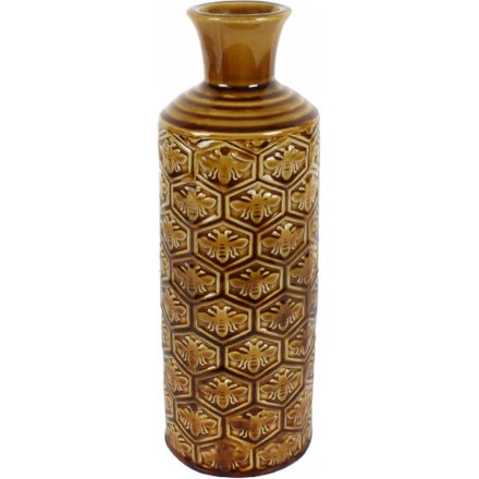 Honeycomb Bee Vase