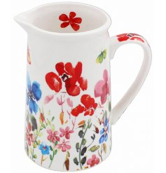 set with an array of colourful flowers, this beautiful Jug is part of a new range