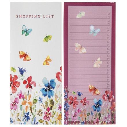 Colourful Meadow Shopping List Pad