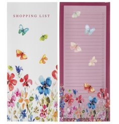 this pink toned shopping list is perfect for keeping notes towards your food shop!