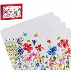 A beautifully patterned set of placemats from the Butterfly Meadow Range