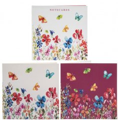 Perfect for jotting down memos and reminders, a pack of pretty patterned notecards