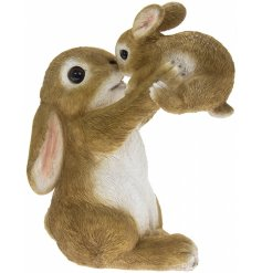 A sweet little ornamental Bunny and Baby , perfect for placing in any garden