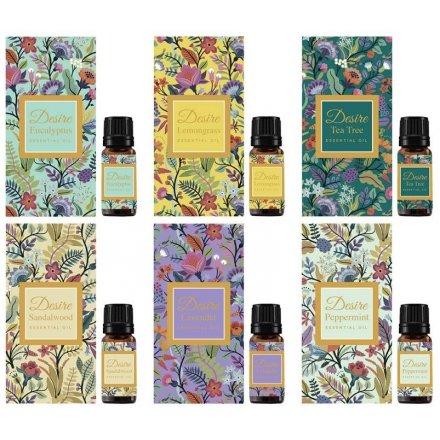 Floral Scented Essential Oils, 6asst