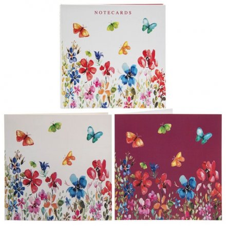Colourful Meadow Note Card Sets