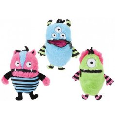 An assortment of 3 colourful and quirky worry monsters to help children with worries.
