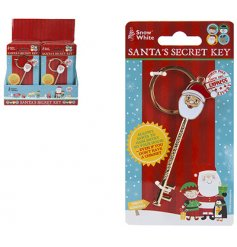 A golden key that little ones can leave out for Santa on Christmas Eve