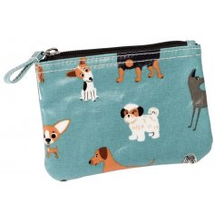 A colourful and cute oilcloth purse featuring the popular Best in Show design.