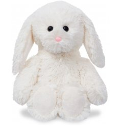 A cute and cuddly 12inch bunny soft toy with snuggly white soft fur