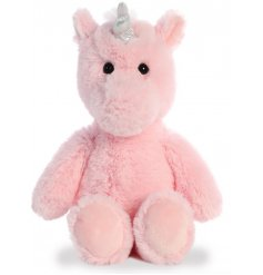 Add a magical touch to your little ones play time with this super soft and snuggly Unicorn soft toy
