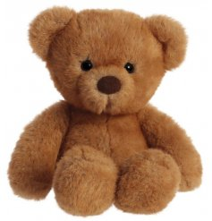 A cute and cuddly teddy bear soft toy in a light brown tone