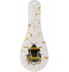 Stay organised with this colourful and stylish bee design spoon rest.