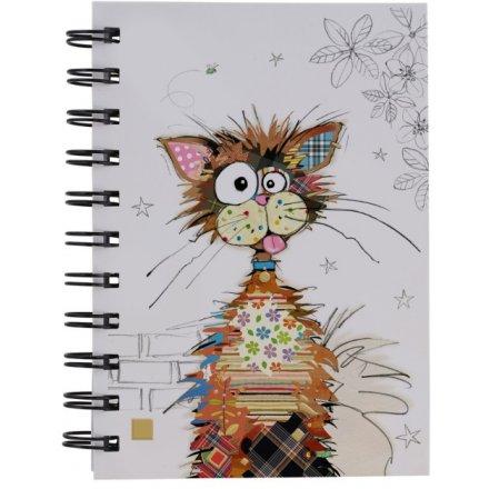 A6 Ziggy Cat Bug Art Notebook