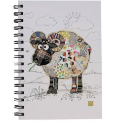A small spiral spine notebook decorated with a Raymond Ram print from the Bug Art Range
