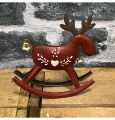 A beautiful little ornamental rocking horse, perfect for adding to your home during christmas time