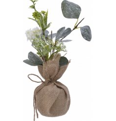 A beautiful accessory to bring to your home during the festive season, a Eucalyptus bunch with a frosted finish