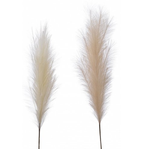 Tall artificial pampas grass for a luxe textured feel.