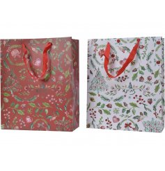 Sure to add a traditional charm to your gift giving at Christmas time, an assortment of Red and White Gift Bags
