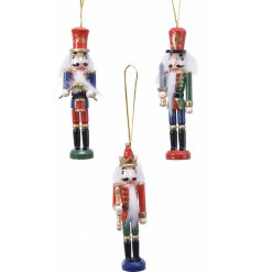 Sure to bring a Classical feel to any tree display at Christmas, a mix of festive toned hanging nutcrackers