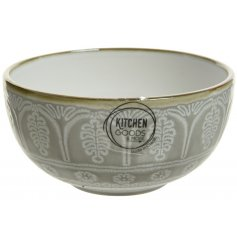 this metallic rimmed bowl will be sure to place perfectly on any table