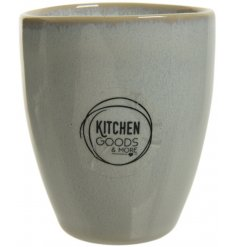 With its smooth glazing over a crackle effect, this sleek and simple stoneware espresso mug will be sure to place perfe