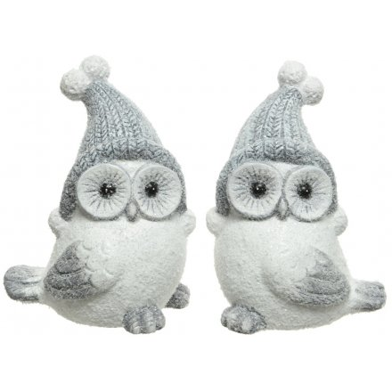 Snow Owls, 2 Assorted