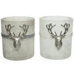 Sure to bring a luxe setting to any home space at Chirstmas, an assortment of Winter White and Misty Grey toned candle